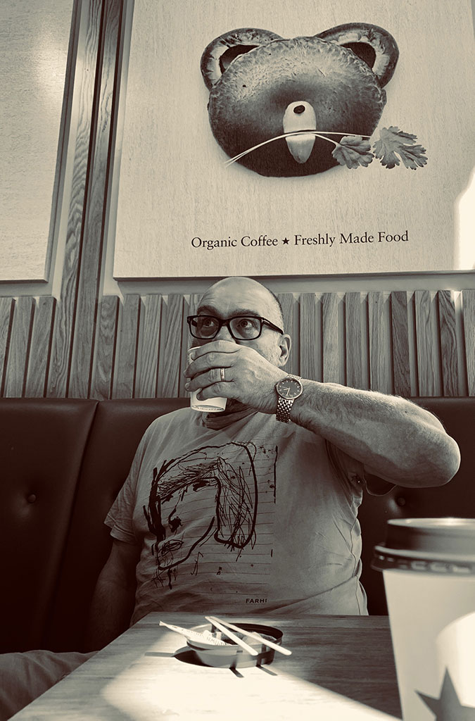 Gerry enjoying a tasty beverage